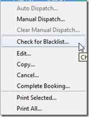 Check for Blacklist menu