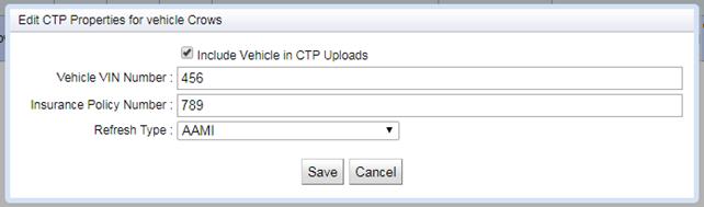Edit Vehicle CTP Properties